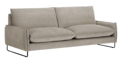 Sofá 3 plazas modelo Kembo de pata alta y brazo recto