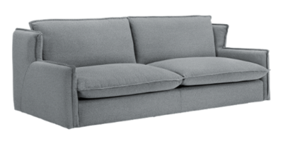Sofá 3 plazas modelo Kembo de pata baja y brazo de oreja