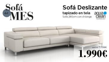 Mes del Sofá - Promoción sofá con chaise longe deslizante.