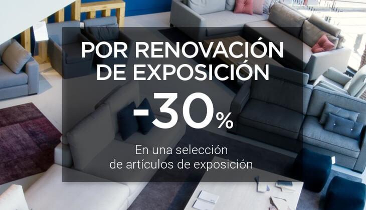 -30% por renovación de exposición en una selección de artículos