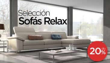 Selección de Sofás Relax con 20% dto